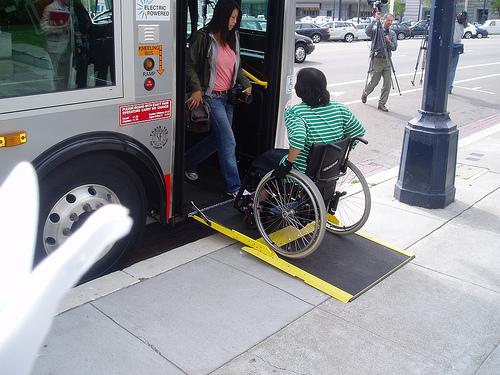 رمپ مناسب براي اتوبوس
