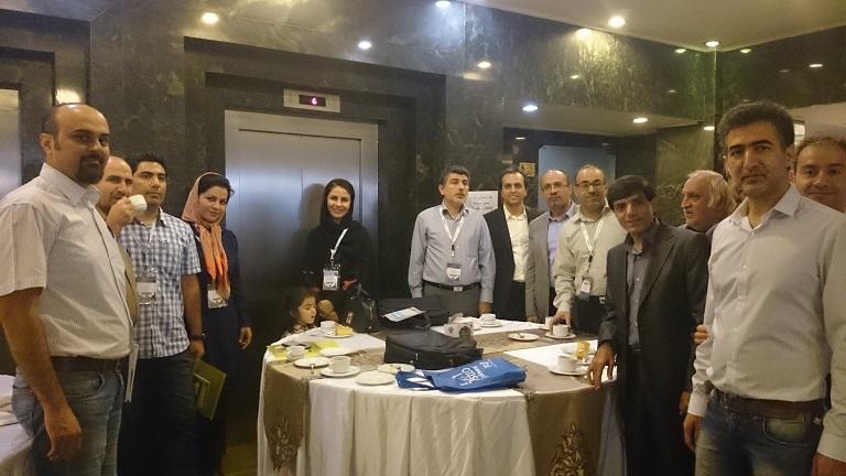 همکاران انجمن در کنگره سکته مغزی -شیراز