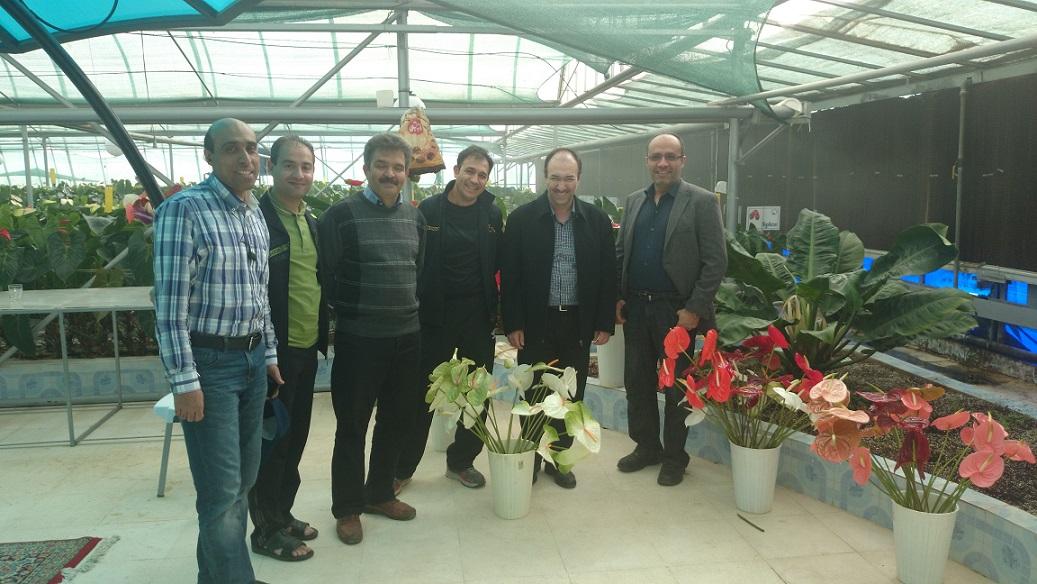 برنامه تفریحی با حضور استاد دکتر منصوری در گلخانه